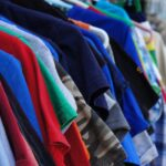 clothes, old, on hangers